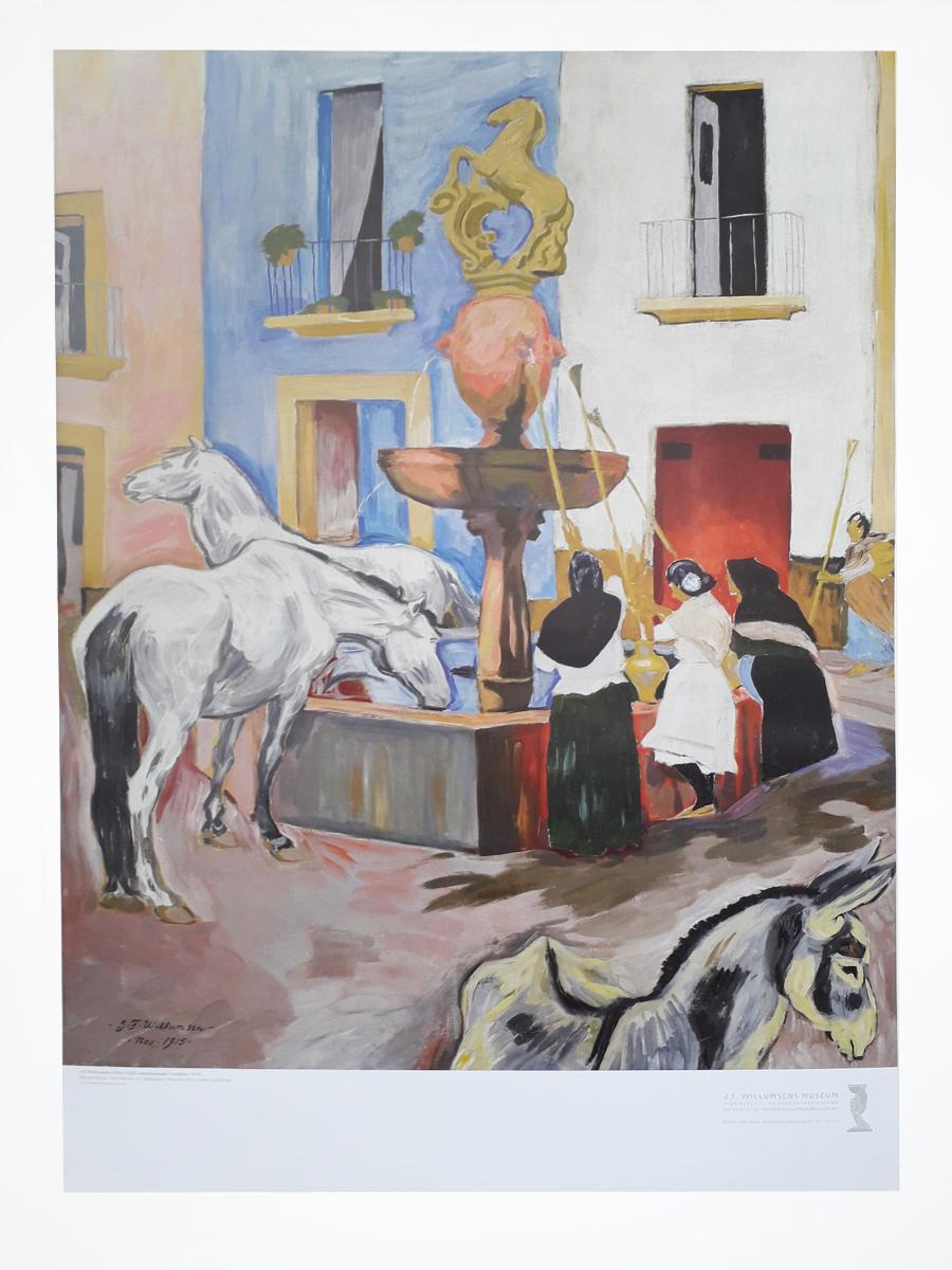 Hestebrønden i Cordoba Plakater Willumsens Museum