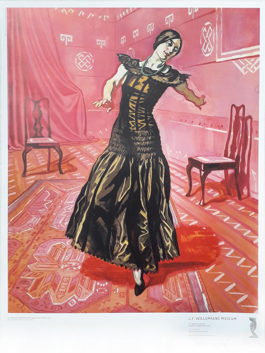 Michelle Bourret danser Valse Boston Plakater Willumsens Museum