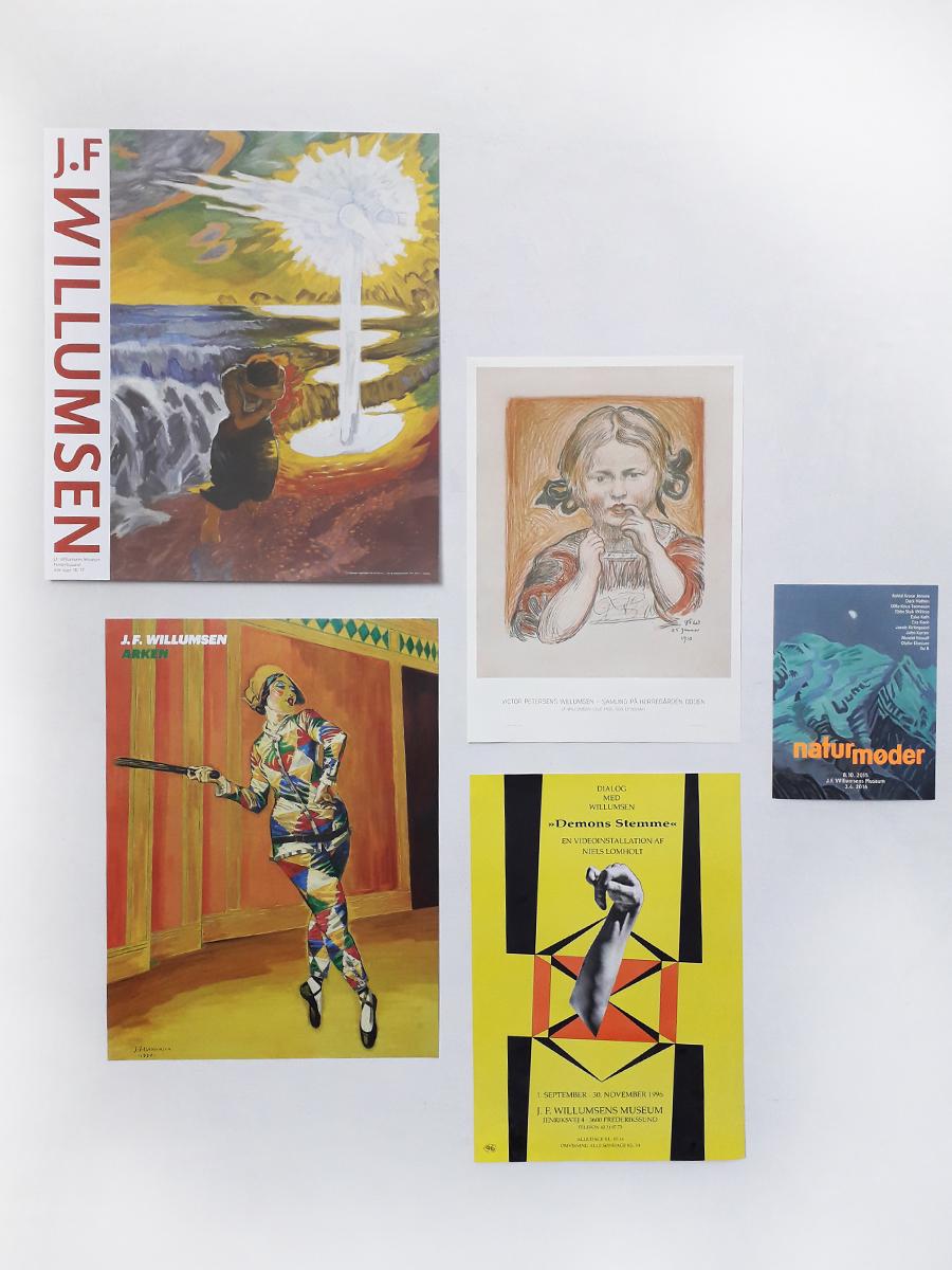 Plakater Willumsens Museum interiør naturskræk