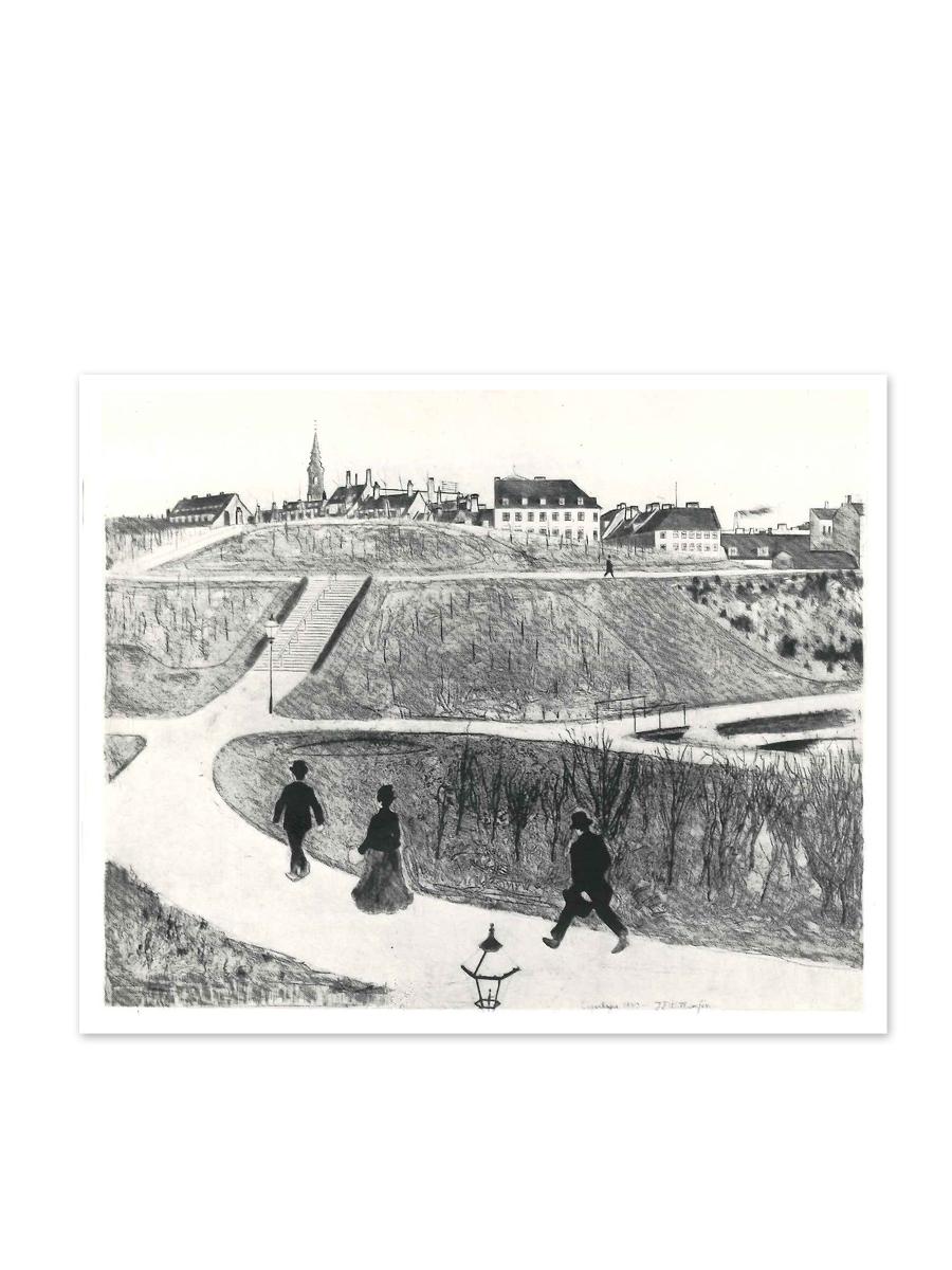 Aborreparken 1890 Postkort Willumsens Museum