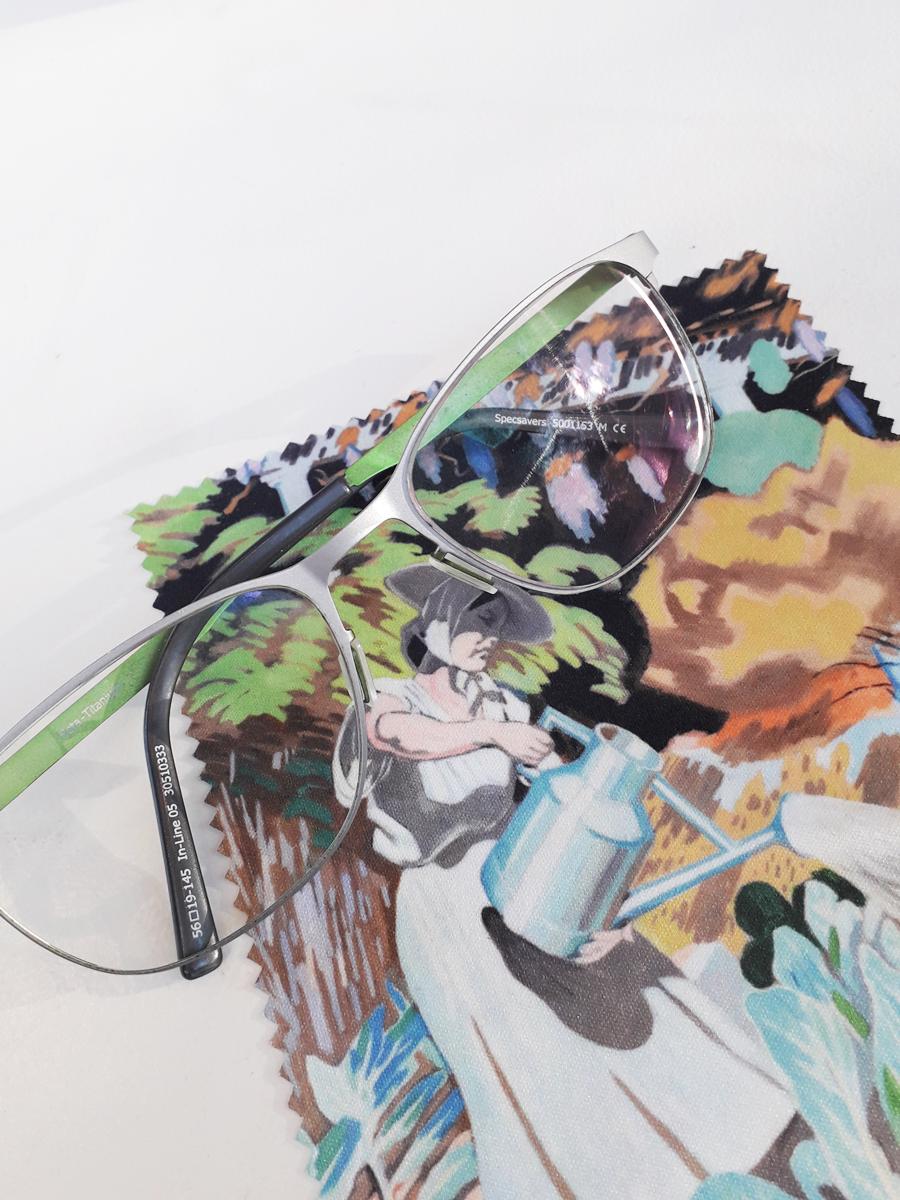 Pudseklud brillepudseklud Willumsens Museum