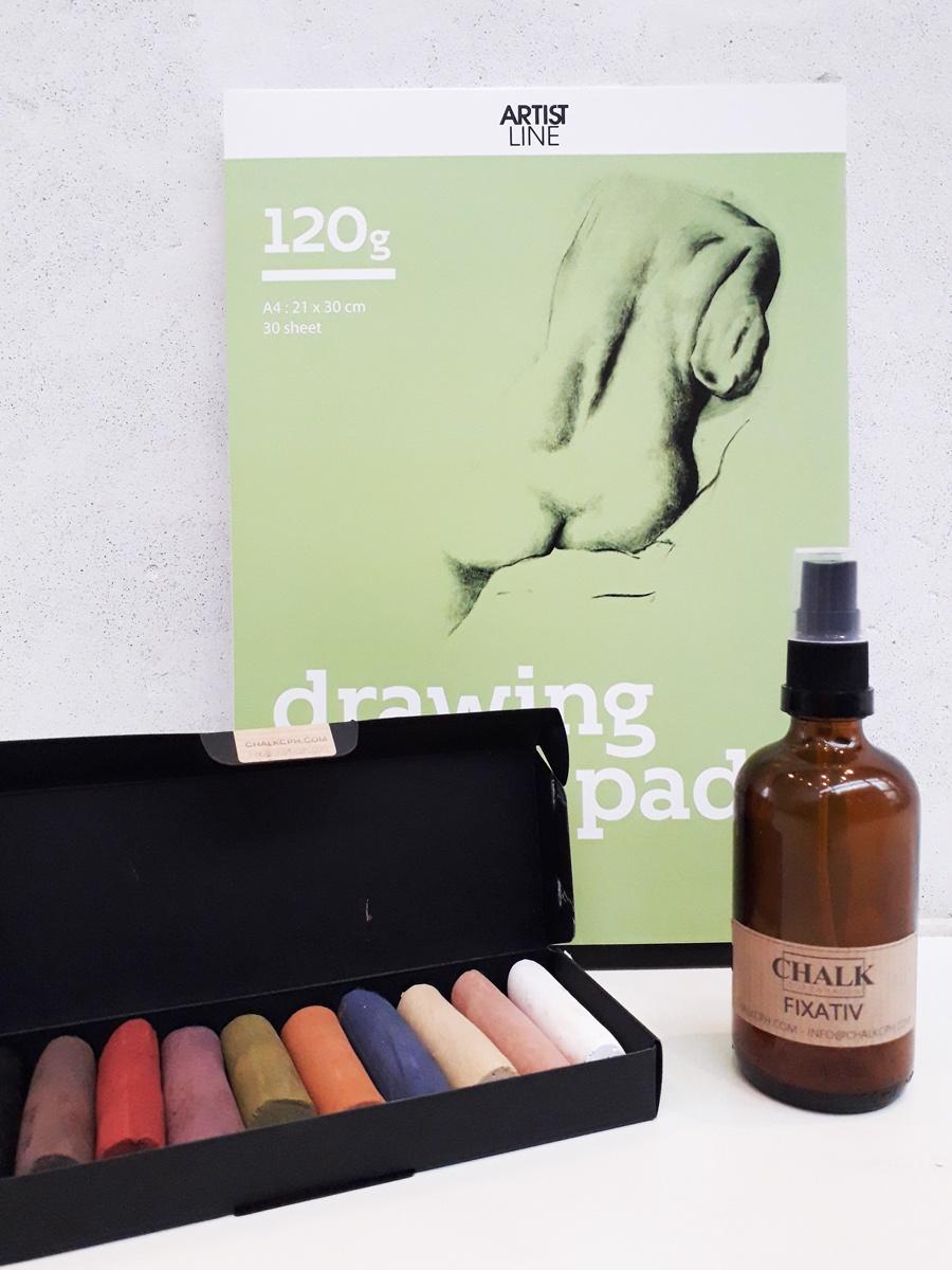 Fixativ bæredygtige farvekridt Copenhagen Chalk Willumsens Museum Gaveide gaveæske