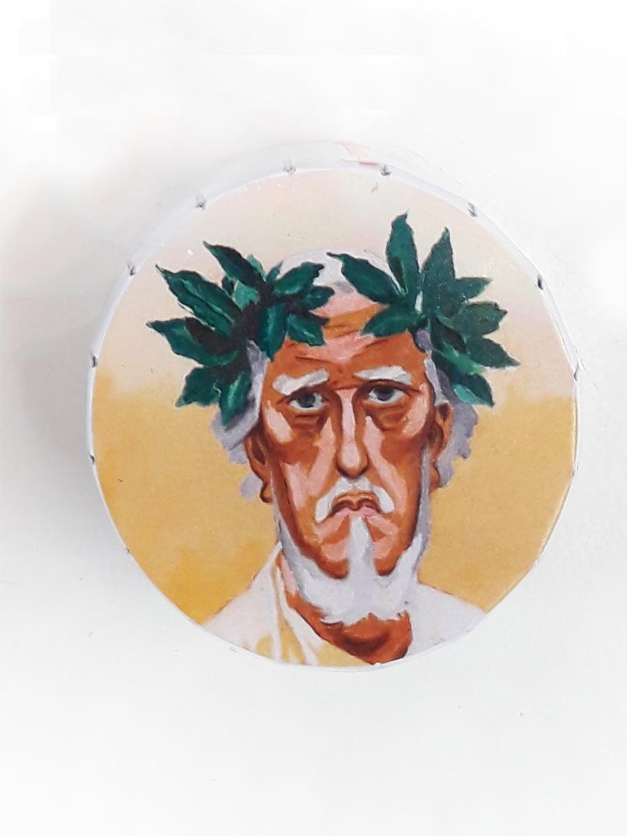 Selvportræt med Laurbærkrans Willumsens Museum Æsle med pastiller