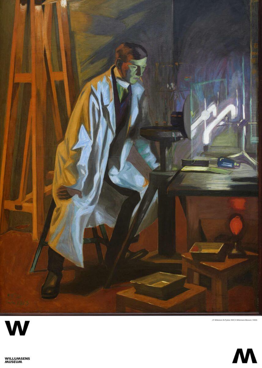 Plakat, En fysiker. Willumsen, 1913