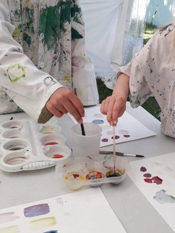Plantefarver. Familieaktiviteter på Willumsens Museum